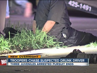 OHP: Drunk driver, 2 others arrested after chase