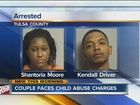Couple arrested after child found unconscious