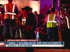 1 dead, 3 hurt in back-to-back crashes