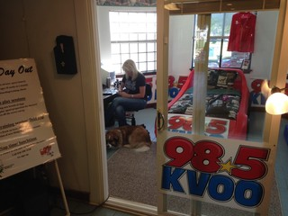 KVOO's Sunny Leigh sleeping in kennel for 24 hrs