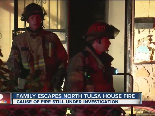 Family escapes house fire in north Tulsa