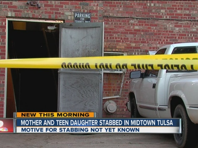 Mother, daughter stabbed in midtown Tulsa