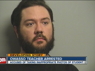 Owasso teacher arrested for inappropriate photos