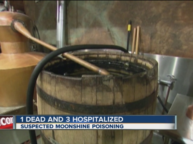 Suspected moonshine poisoning causes death