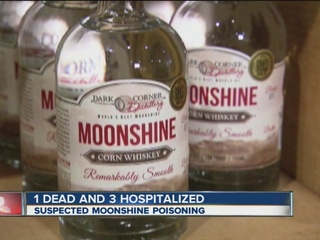 1 dead due to suspected moonshine poisoning
