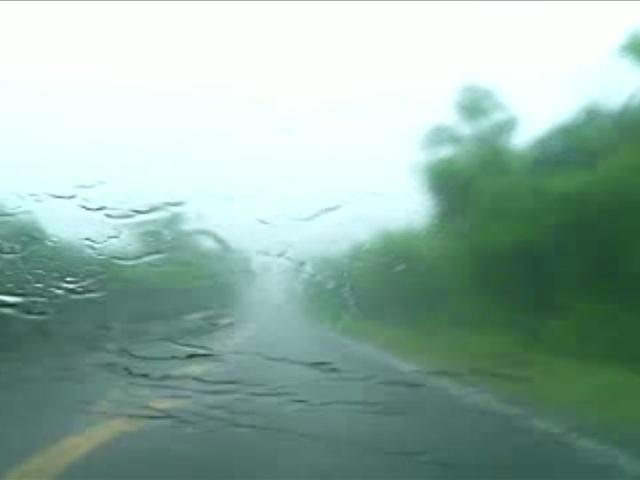Driving through storm producing heavy rain in Creek County, Oklahoma…