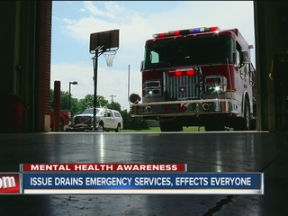 Mental health issue drains emergency services