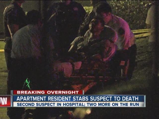 One dead, one hurt in apartment break-in