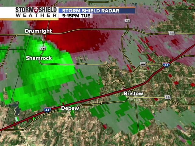 Possible tornado hits Bristow Tuesday: Radar images track the intensity…