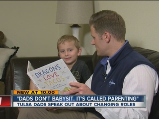 Dads don't babysit, they parent