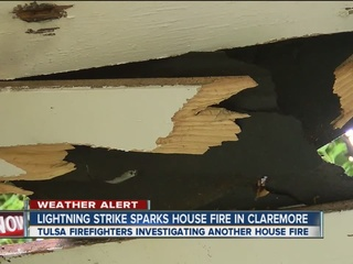 Lightning causes small house fire in Claremore