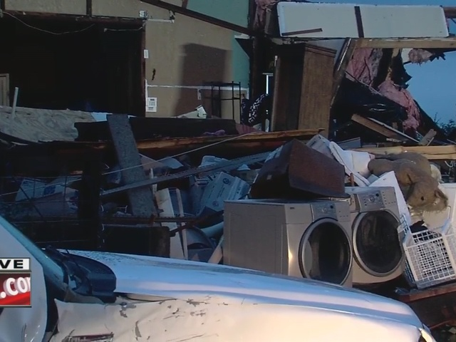 Possible tornado causes damage to several homes in Bristow, Oklahoma