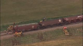 VIDEO: Train blown off tracks in Garfield Co.