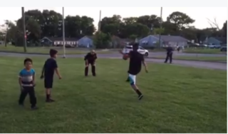 Cops join kids playing in field after complaint
