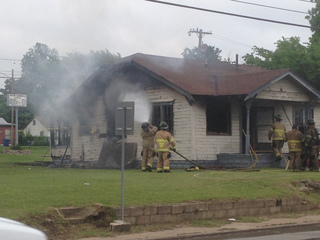 Fire extinguished at unoccupied N. Tulsa house