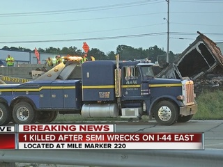 All I-44, HWY 66 lanes reopened after semi crash