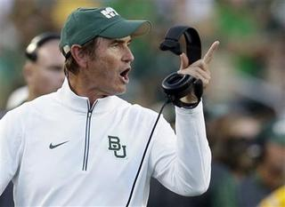 On field, how far might Baylor fall?