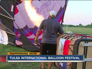 Balloons take to the sky for Tulsa festival