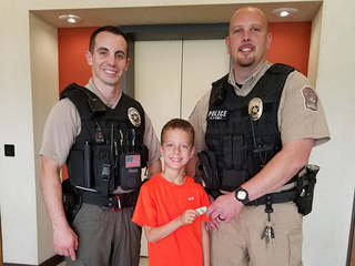 7-year-old donates gumball money to police
