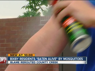 Bixby residents 'eaten alive' by mosquitoes