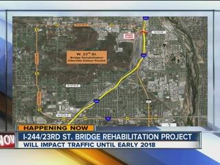 I-244/23rd Str. bridge to be under construction