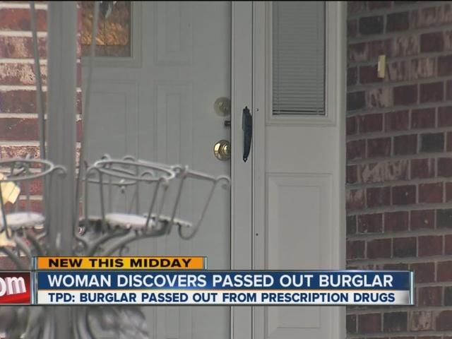 TPD: Burglar found passed out in closet