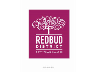 Owasso's downtown Redbud District logo revealed