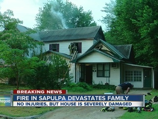 No injuries following Sapulpa house fire