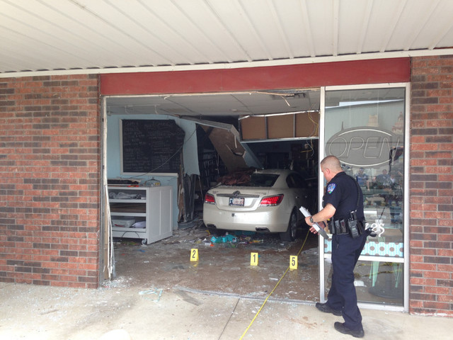3 transported after car hits bakery in Jenks