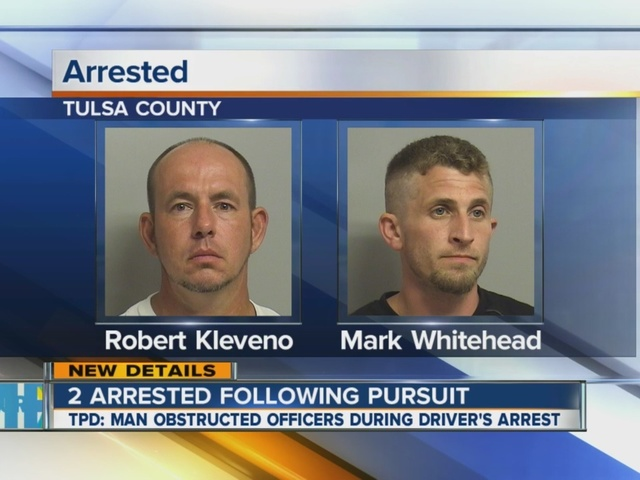 Two arrested after pursuit, alleged assault in Tulsa Sunday