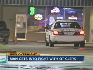 Man punched in the face at Tulsa QuikTrip