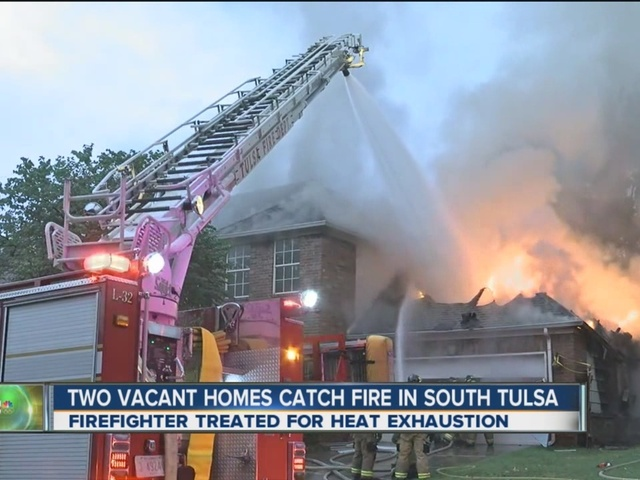 Two Vacant Homes Catch Fire In South Tulsa