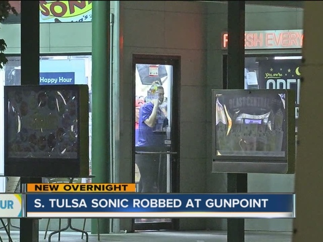 Two men on the run after they robbed Sonic