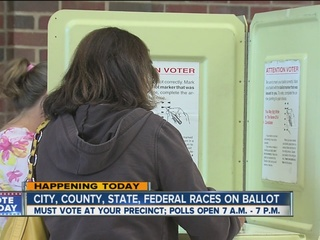 Polls open at 7 a.m. for primary election