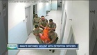 Inmate facing charges after throwing chair