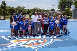 Tulsa park receives Thunder-themed courts