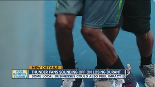 Fans, some Tulsa businesses sad to see KD leave