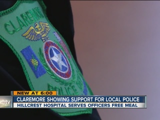 Community shows support for Claremore police
