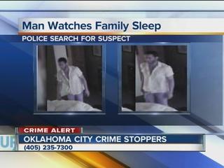 Video shows man watching sleeping OKC family