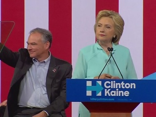 Hillary Clinton holds rally with Tim Kaine