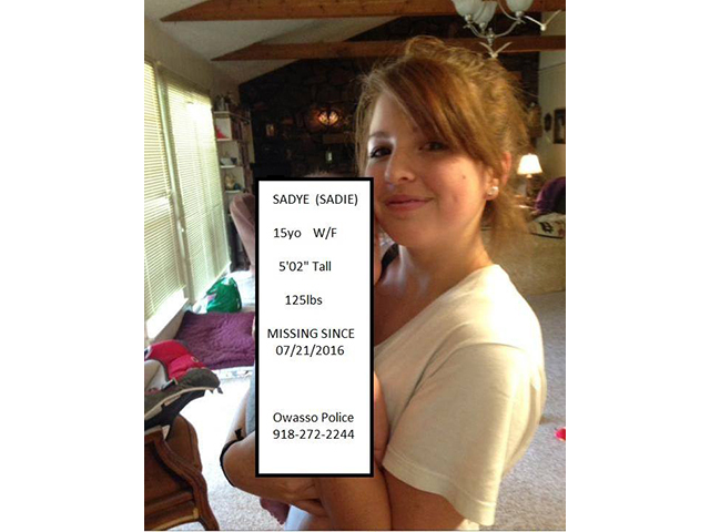Owasso police ask for help finding 15-year-old