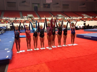 Gymnasts from around the nation compete in Tulsa