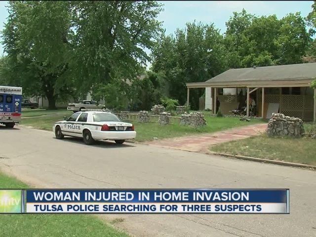 Woman injured in Tulsa home invasion