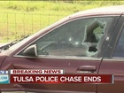 Tulsa police chase ends, causes major delays