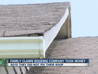 Couple claims roofing company took money