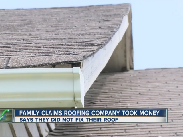Family Claims Roofing Company Took Money