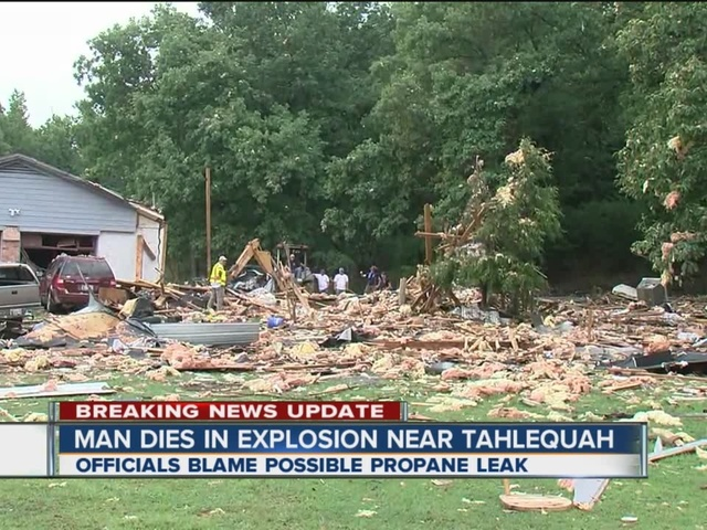 Man dies inside home from possible gas explosion