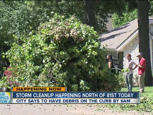 Storm cleanup happening North of 81st today