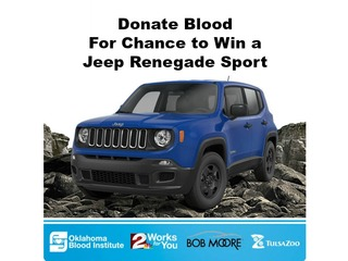 Give blood for chance to win a new Jeep Aug. 6