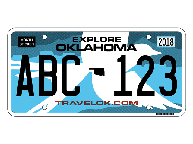 Oklahoma unveils new license plate design